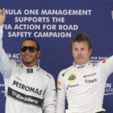 Lewis Hamilton y Kimi Räikkonen