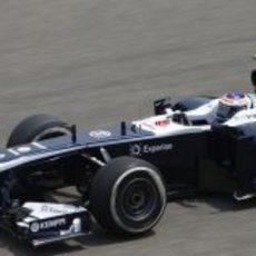 Valtteri Bottas trata de escalar puestos en la clasificación del GP de China 2013