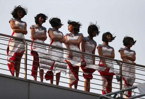 Las azafatas del Gran Premio de China