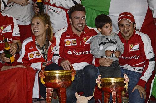 Dasha Kapustina, la novia de Fernando Alonso, en la celebración