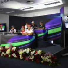Rueda de prensa oficial de la FIA en el Gran Premio de Baréin