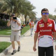 Las cámaras pendientes del piloto de Ferrari