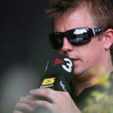 Kimi Räikkönen habla para TV3