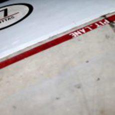 Decoración del box de Williams