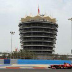 Fernando Alonso, en el Gran Premio de Baréin 2013