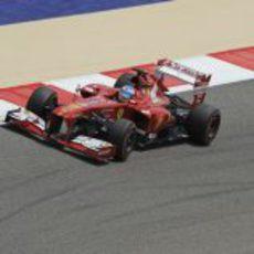 Fernando Alonso rodando en los libres