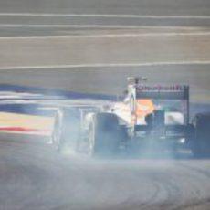 Adrian Sutil se pasa de frenada en Baréin