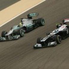 Valtteri Bottas y Nico Rosberg, en paralelo