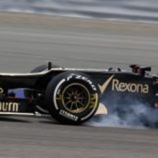 Kimi Räikkönen se pasa de frenada en Baréin