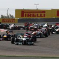 Nico Rosberg, en cabeza del Gran Premio de Baréin