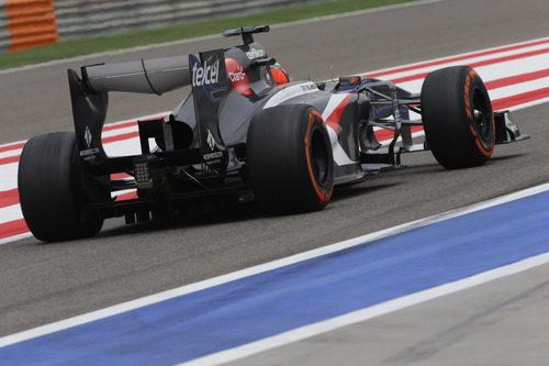 Parte trasera de Nico Hülkenberg durante el GP de Baréin 2013