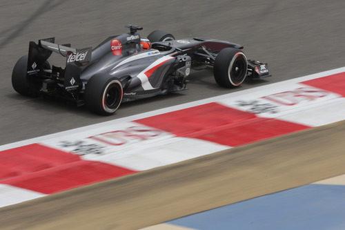 Nico Hülkenberg a toda velocidad en el GP de Baréin 2013