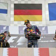 El podio del GP de Baréin 2013