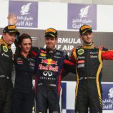Podio del Gran Premio de Baréin 2013