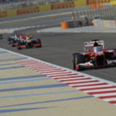 Fernando Alonso se quedó sin DRS en Sakhir