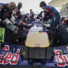 Todo listo para que Daniel Ricciardo comience el Gran Premio