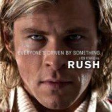 James Hunt en un cartel oficial de Rush