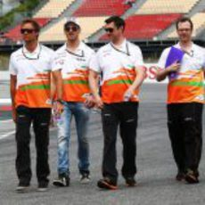 'Track walk' del equipo Force India en España