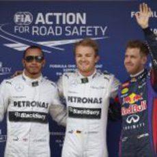 Hamilton, Rosberg y Vettel, los más rápidos en Montmeló