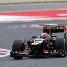 Romain Grosjean completa los Libres 3 del GP de España 2013