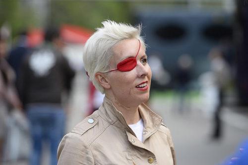 María de Villota en el paddock de Barcelona