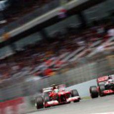 Felipe Massa y Jenson Button frente a frente