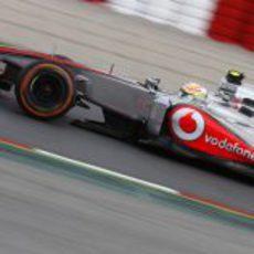 Sergio Pérez pasó a la Q3 en Barcelona
