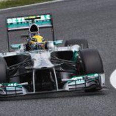 Lewis Hamilton fue segundo en la clasificación de Barcelona