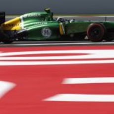 Giedo van der Garde rueda en el Circuit de Catalunya