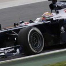 Pastor Maldonado cayó en la Q1 de Barcelona