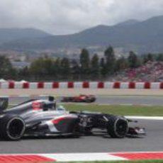 Esteban Gutiérrez afronta la Q1 en Montmeló