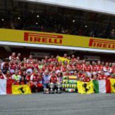 Ferrari celebra las posiciones de podio en Barcelona