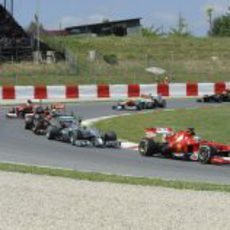 Fernando Alonso tuvo un gran ritmo en Barcelona
