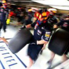 Cambio de neumáticos en Red Bull