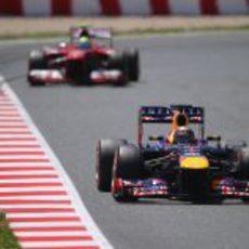 Sebastian Vettel finalizó cuarto el GP de España 2013
