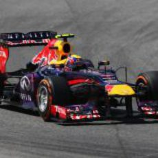 Mark Webber acabó justo detrás de su compañero