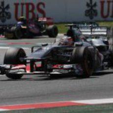 Nico Hülkenberg tuvo un pequeño incidente en boxes