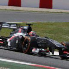 Nico Hülkenberg realizó cinco paradas en el GP de España 2013