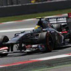 Esteban Gutiérrez completó su mejor carrera en Barcelona