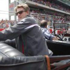 Nico Hülkenberg durante el 'drivers parade'