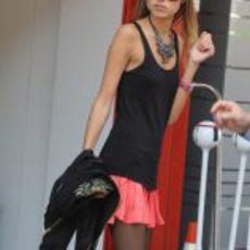 Dasha Kapustina, la novia de Fernando Alonso, en Barcelona