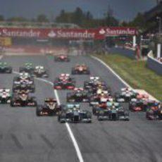 Salida del Gran Premio de España 2013