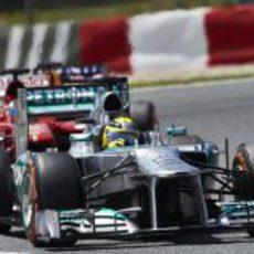 Nico Rosberg trata de mantener la pole en Barcelona