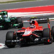 Jules Bianchi superó de nuevo a un Caterham en Barcelona