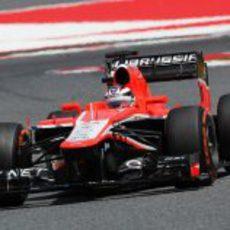 Max Chilton terminó por detrás de su compañero en Barcelona