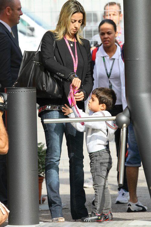 Anna Rafaela Bassi, la mujer de Felipe Massa y su hijo