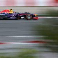 Sebastian Vettel rueda con el compuesto más duro