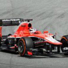 Max Chilton rueda en los Libres 1 del GP de España 2013