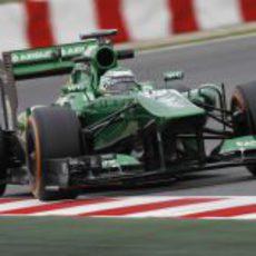 Heikki Kovalainen se subió al CT03 en los Libres 1 del GP de España 2013