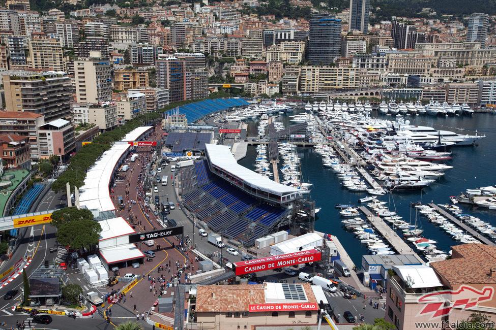 Plano general del Gran Premio de Mónaco